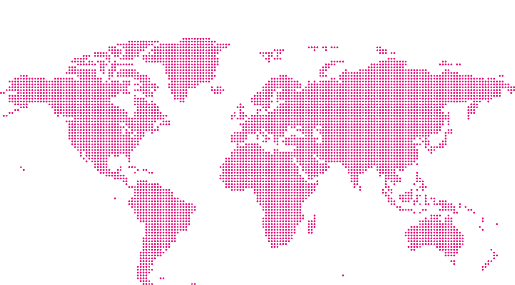 World map with the text 200 multilingual management experts.